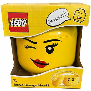 LEGO storage box head Winky large 23 x 26,5 cm