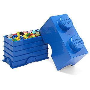 Lego uzglabāšanas kubs zils