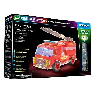 Konstruktors Laser Pegs 12 In 1 Fire Truck
