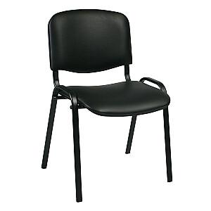 Klienta krēsls ISO, melna ādas imitācija - melna