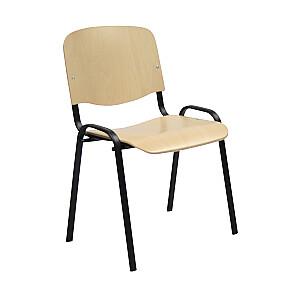 Klienta krēsls ISO, saplāksnis - melns