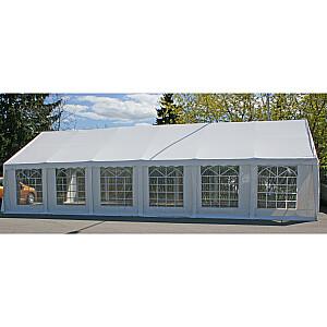Ballīšu telts 6x12m, balta