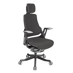 Biroja krēsls WAU, melns audums
