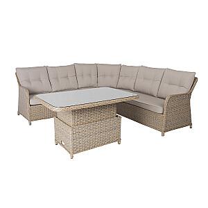 Komplekts PACIFIC galds un stūra dīvāns