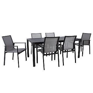 Komplekts ar AMALFI 6 krēsliem, melns