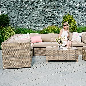 Moduļa dīvāns SEVILLA ar spilveniem, vidējā daļa
