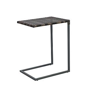 Sānu galds WICKER 51x40xH65,5cm, tumši brūns