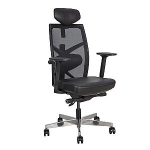 Biroja krēsls TUNE, melna āda