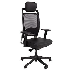 Biroja krēsls FULKRUM, melna āda