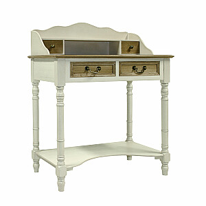 Tualetes galds SAMIRA, antīks, balts