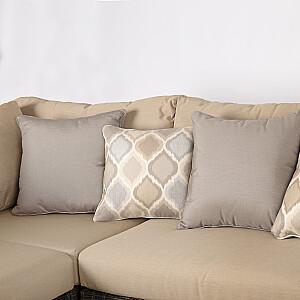 Dīvānu komplekts TANJA, tumši brūns