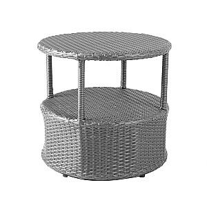 Kafijas galdiņš STELLA D52,5xH50cm, tumši pelēks