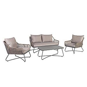 Komplekts ANDROS galds, dīvāns un 2 krēsli