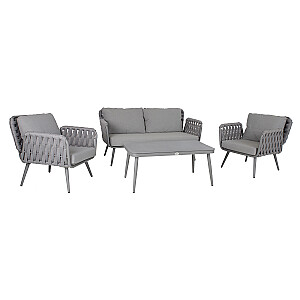 ASCONA galda, dīvāna un 2 krēslu komplekts