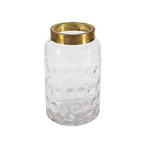 Vāze LUXO, D15xH26cm, metāla gredzens
