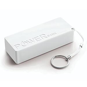 XMP102W Power Bank lādētājs (balts) 5000mAh
