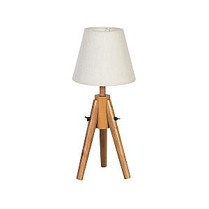 Gultas lampa RINGO WOOD H49cm, balta