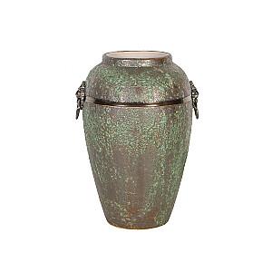 Keramikas vāze LEON, H30cm, zaļa