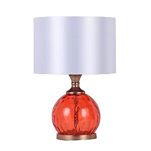 Galda lampa LUXO, H45cm, sarkans stikls