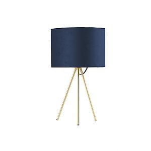 Galda lampa TRINITY H42cm, zila / zelta