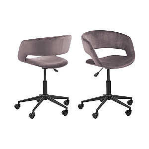 Biroja krēsls GRACE, veca rozā / melna kāja