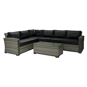 Komplekts GENEVA stūra dīvāns un galds