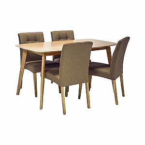Ēdamgalda komplekts ENRICH ozols ar 4 krēsliem
