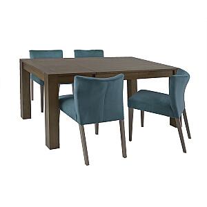 Ēdamgalda komplekts TURIN ar 4 krēsliem 11324