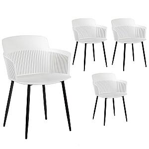 Krēsli 4gab. TOBY, balti
