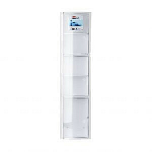 Vertikālais vannas istabas skapītis balts