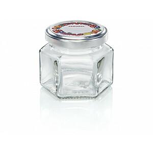 Sešstūra burciņa stikla 106ml