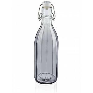 Pudele Facette stikla 500ml pelēka