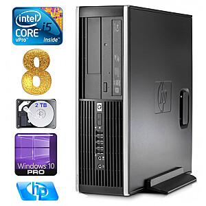 HP 8100 Elite SFF i5-650 8GB 2TB DVD WIN10Pro