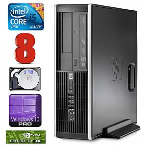 HP 8100 Elite SFF i5-650 8GB 2TB GT1030 2GB DVD WIN10Pro