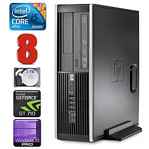 HP 8100 Elite SFF i5-650 8GB 2TB GT710 2GB DVD WIN10Pro