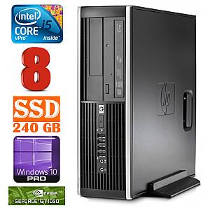 HP 8100 Elite SFF i5-650 8GB 240SSD GT1030 2GB DVD WIN10Pro