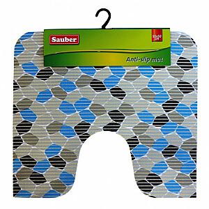 """WC paklājs """"Blue mosaic"""" 55x50cm, PVC"""