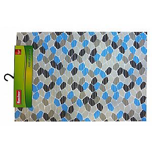 """Vannas istabas paklājs """"Blue mosaic"""" 55x80cm, PVC"""