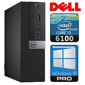 DELL 3040 SFF i3-6100 4GB 1TB GT710 2GB DVD WIN10Pro