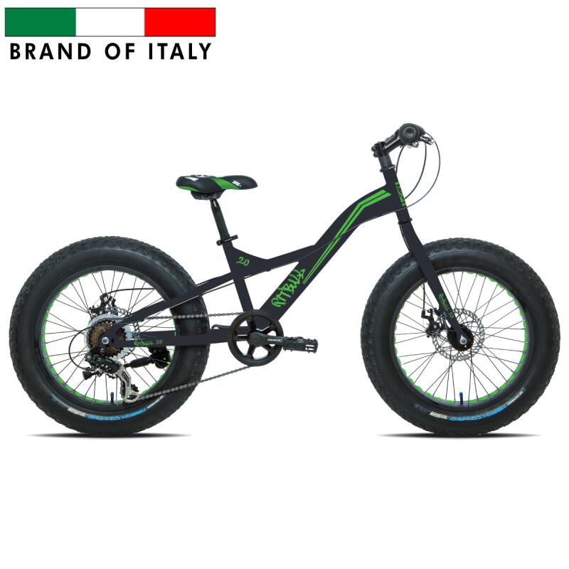 "Esperia 9020 Fat Bike 20'' Black/Green pusaudžu velosipēds (Rata izmērs: 20"")"