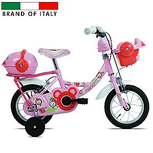 "Bērnu velosipēds Carratt 9700 Parrot MTB14 Bimba Pink (Rata izmērs: 14"")"