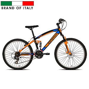 "Mountain Bike Esperia Full 24 TY300 21V Orange pusaudžiem (Rata izmērs: 24"")"