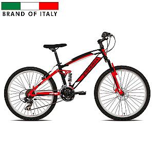 "Mountain Bike Esperia FULL 24 TY300 21V Rouge Red (Rata izmērs: 24"")"