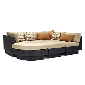 Dīvānu komplekts STELLA, tumši brūns