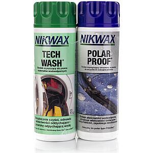 Nikwax sintētisko apģērbu kopšanas komplekts Tech Wash / Polar Proof 2x300ml (NI-34)