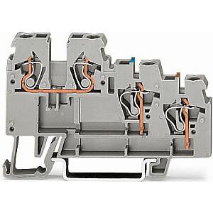 WAGO 3 vadu spaiļu bloks sensoriem, pelēks (270-560)