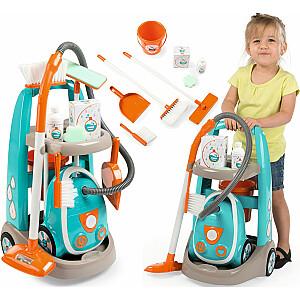Smoby tīrīšanas ratiņi ar SMOBY putekļu sūcēju