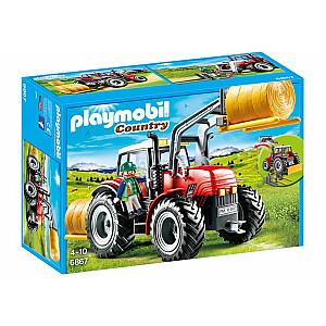 Playmobil Country lielais traktors ar aprīkojumu