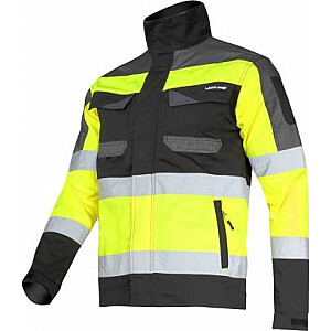 Lahti Pro augstas redzamības jaka melni dzeltena XL (L4041104)