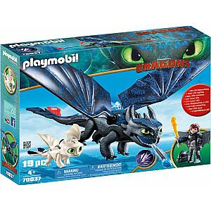 Playmobil Dragons Žerbateks un Žagas ar pūķa mazuli